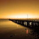 Shorncliffe Jetty at pre-dawn. Brisbane, Queensland, Australia. by Ralph de Zilva