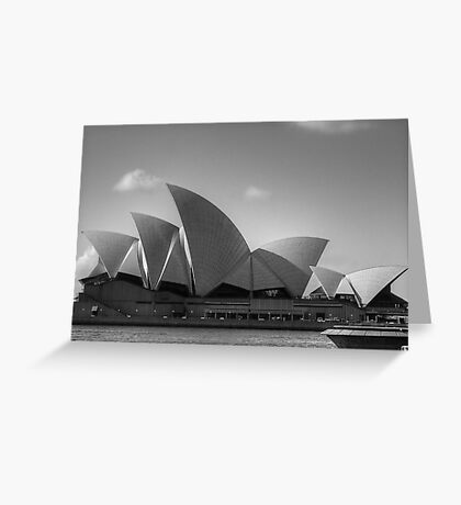 Sydney Opera House in Black & White Greeting Card