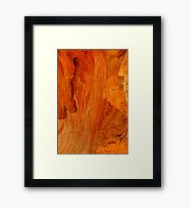Rock Patterns Framed Print