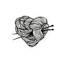 « Illustration coeur tricot » par silowane
