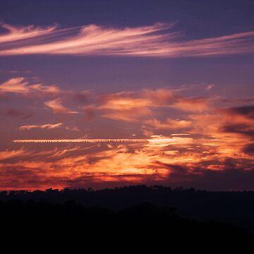 Anzac Sunrise ~ Beaufoy Merlin Lookout ~ Hill End by skeeter