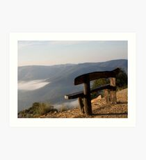 Bench on the Edge  Art Print