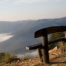 Bench on the Edge  by Lorraine Creagh