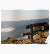 Bench on the Edge  Poster