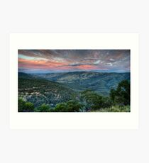 Sunset Blessed (Hill End) Art Print