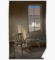"""""""Nowhere to Go"""" Bodie CA, An empty room Poster"""