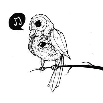 Gothic Birdie by AnjaJacobsen