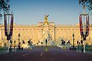 UK. London. Buckingham Palace. Union Jack decorations for Royal Wedding. by Alan Copson
