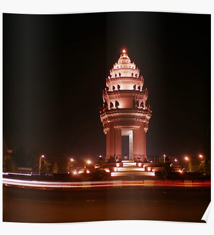 independence monument, phnom penh, cambodia Poster