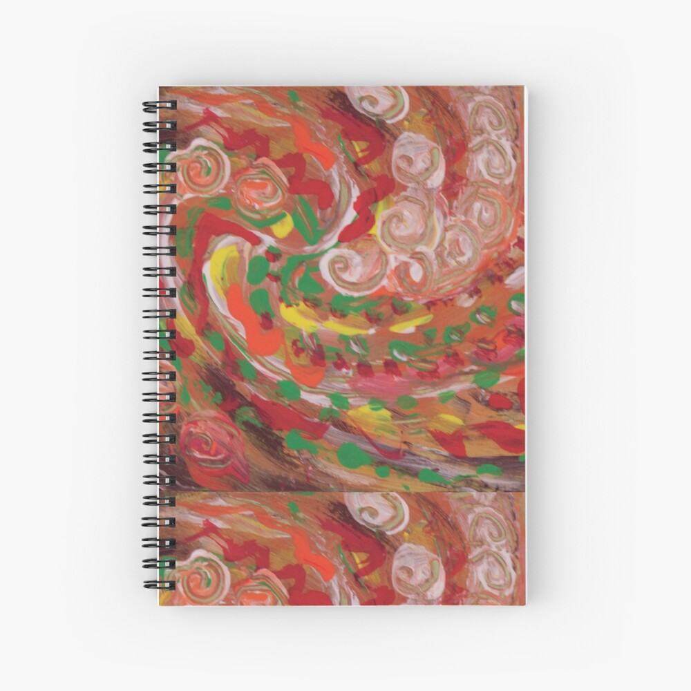 swirling curls abstraction Spiral Notebook