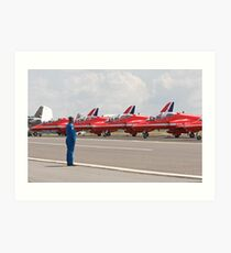 Red arrows preparing to display Art Print
