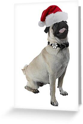 Pug Dog Christmas by CafePretzel