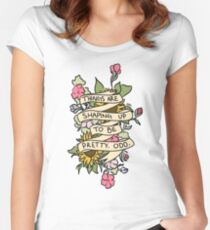 """""""Things Are Shaping Up To Be Pretty. Odd."""" Women's Fitted Scoop T-Shirt"""