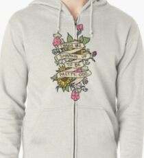"""""""Things Are Shaping Up To Be Pretty. Odd."""" Zipped Hoodie"""
