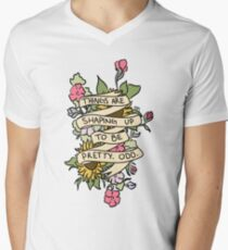 """Things Are Shaping Up To Be Pretty. Odd."" Men's V-Neck T-Shirt"