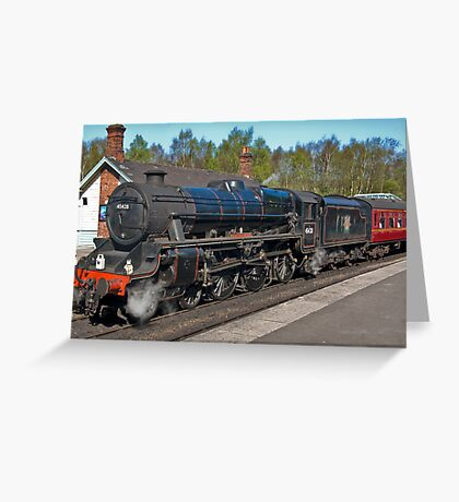 "No 45428  ""Eric Treacy"" Steam Train  - Grosmont. Greeting Card"