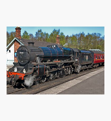 "No 45428  ""Eric Treacy"" Steam Train  - Grosmont. Photographic Print"