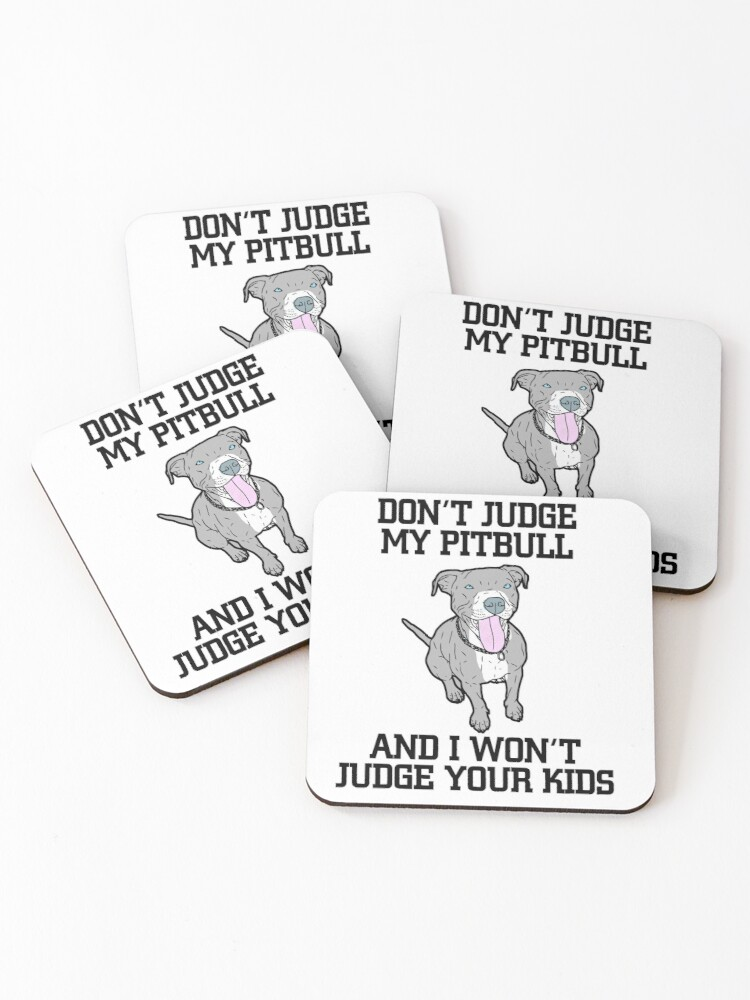 Set of 4 Pitbull Coasters