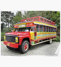 LA CHIVA- Tourists buses in Colombia Poster