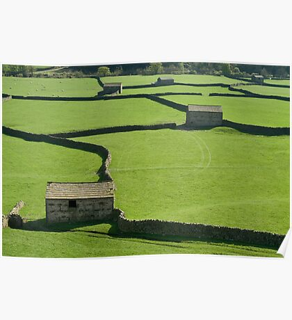 Gunnerside Barns - The Yorkshire Dales Poster