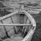 Old Boat Black and White by Pamela Jayne Smith