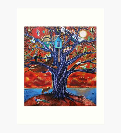 'Tree of Life, Death & Everything In-Between' Art Print