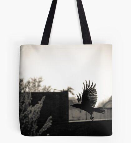 To hatch a crow, a black rainbow... Tote Bag