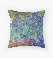 Van Gogh - Irises Throw Pillow