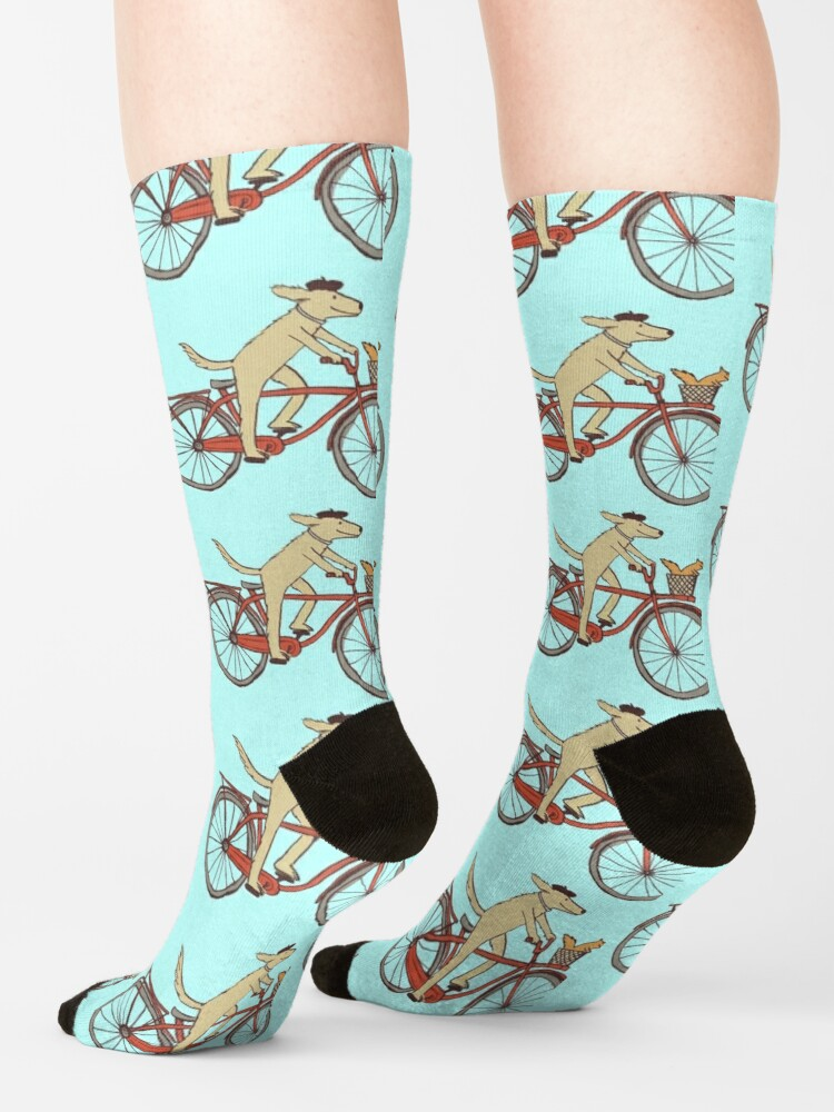 Alternate view of Dog & Squirrel are Friends Socks