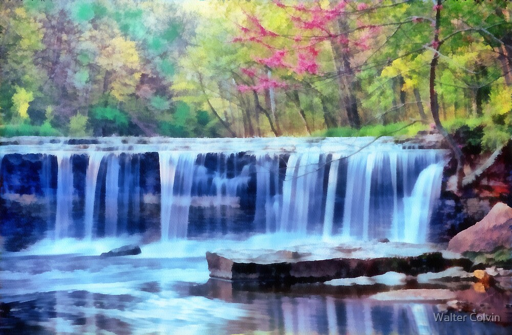 Forest Waterfall by Walter Colvin