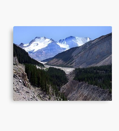Columbia Icefield and Athabaska River Canvas Print