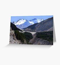 Columbia Icefield and Athabaska River Greeting Card