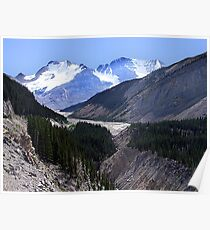 Columbia Icefield and Athabaska River Poster