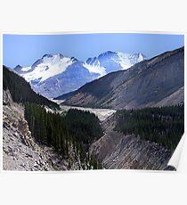 Columbia Icefield and Athabaska River Poster