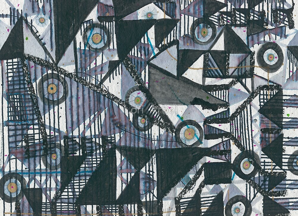 Circles & Triangles : Abstract by Lori  Arbel
