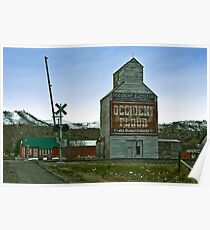 Occident Elevator, Reed Point, Montana Poster