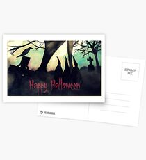 Three Witches Halloween Greetings Card Postcards