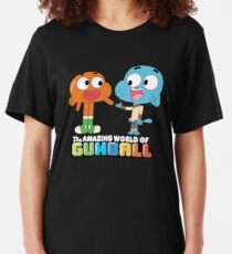 Gumball and Darwin Handshake Slim Fit T-Shirt