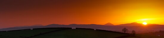 Sunset over Donegal Mountains by Neil Carey