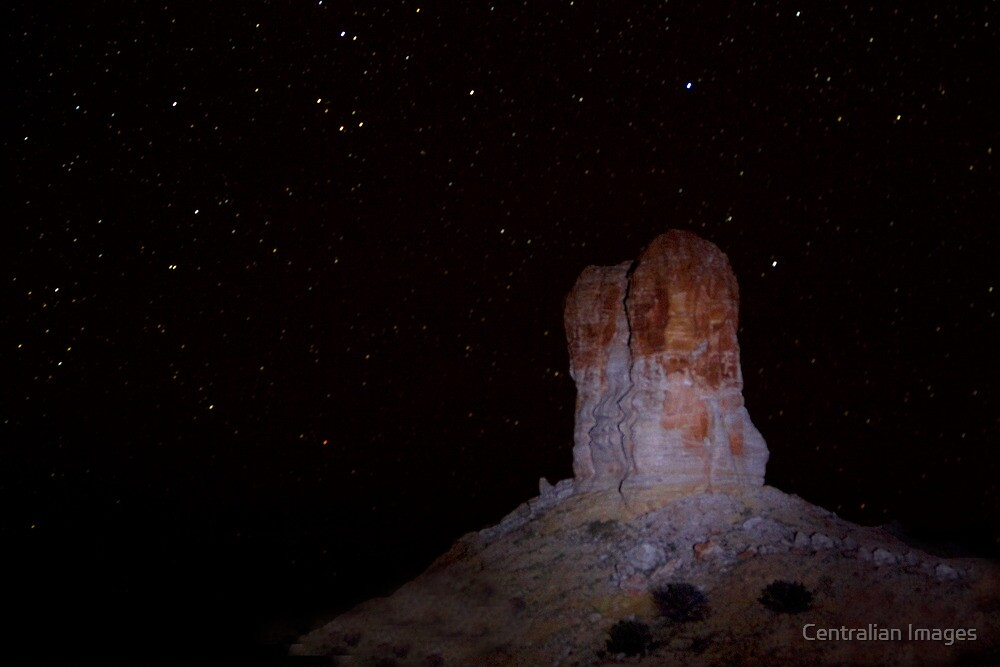 Chambers Pillar By Star Light by Centralian Images
