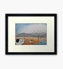 High Plains Cattle Framed Print