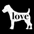 Jack Russel Terrier Love - A Minimalist Distressed Vintage Style Design for Dog Lovers by traciwithani