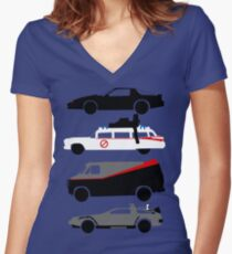 The Car's The Star Women's Fitted V-Neck T-Shirt
