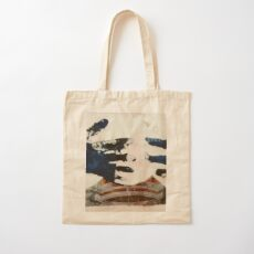 reaching hands of blue Cotton Tote Bag