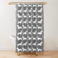 Dachshund Silhouette(s) Shower Curtain