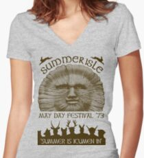 Summerisle May Day Festival 1973 Women's Fitted V-Neck T-Shirt