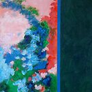 Rita-T, Abstract Painting, Untitled 1, Red, Blue, Pink, Green by VoxOrpheus