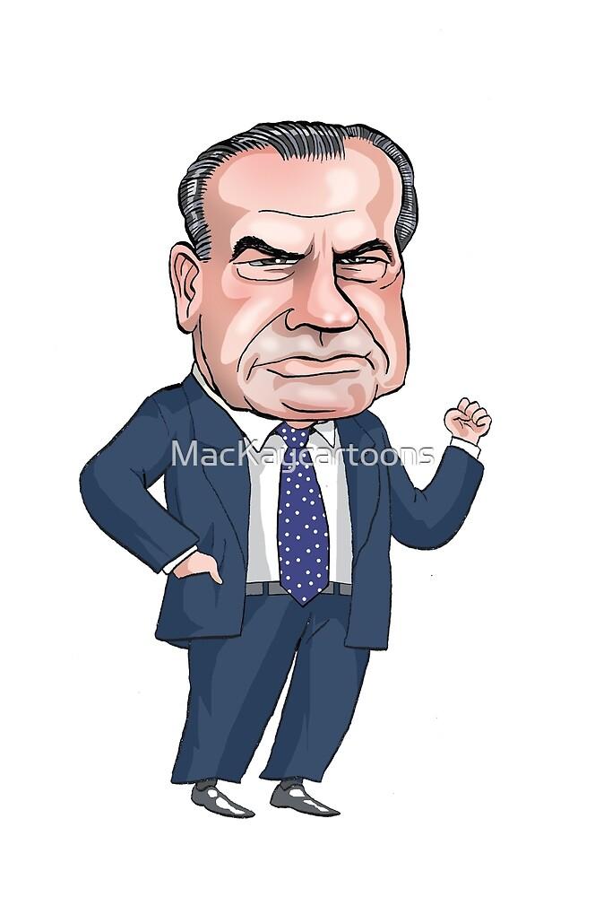 President Richard Nixon by MacKaycartoons