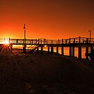 Sunrise at Baxters Jetty, Shorncliffe. Brisbane, Queensland, Australia. by Ralph de Zilva