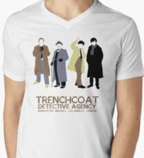 Trenchcoat Detective Agency Men's V-Neck T-Shirt